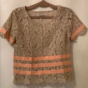 BCBG summery lace top